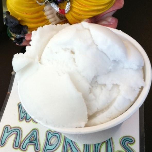 Coconut Sorbet @ Tara's Organic Ice Cream