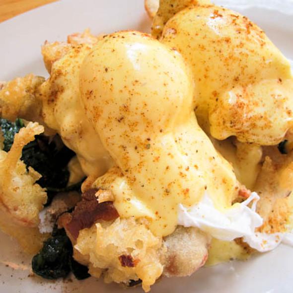 Soft Shell Crab Eggs Benedict @ Clinton Street Baking Co