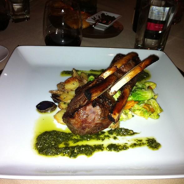 Rack Of Lamb, Mushrooms And Golden Raisin Picadillo, Fingerling Potatoes - Righteous Foods, Fort Worth, TX
