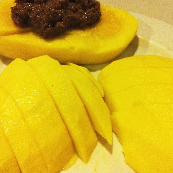 Green Mango with Shrimp Paste @ Breakthrough Restaurant