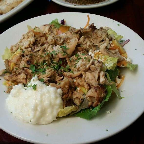 Greek Salad With Chicken Shawarma @ Pasha Mediterranean Grill