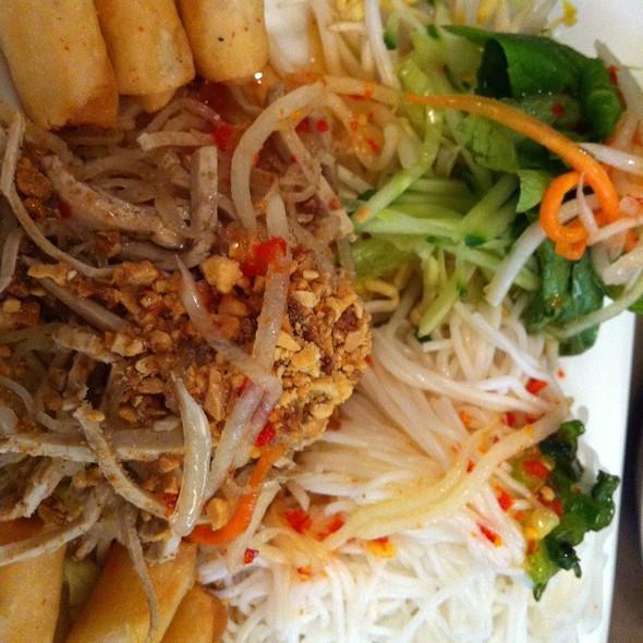 Vermicelli Noodles With Shredded Pork & Spring Rolls @ Thanh Nga Nine
