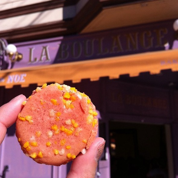 French Macaron: Passion Fruit Mango @ La Boulange de Noe
