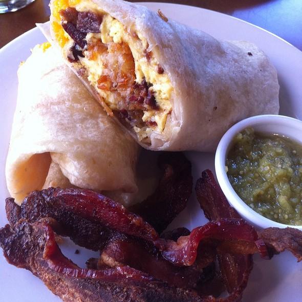 Bacon Breakfast Burrito @ The Morning Star Cafe