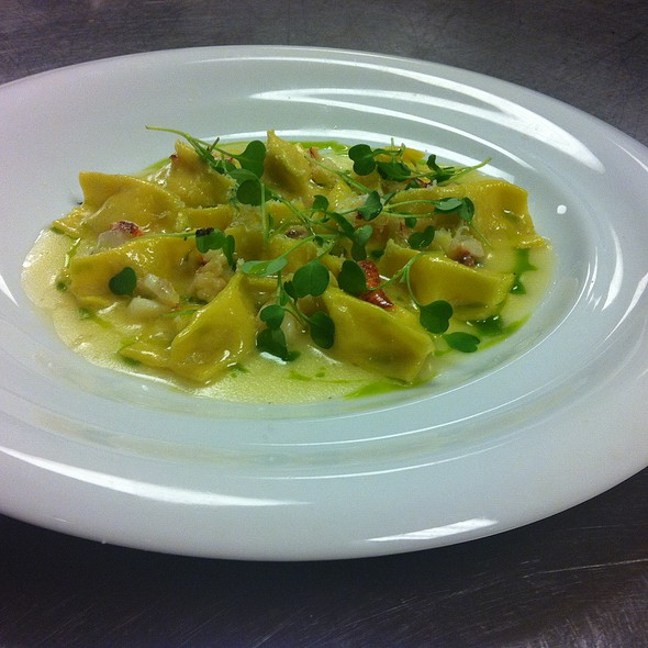 Corn and Lobster Agnolotti  @ Wolfgang Puck Pizzeria and Cucina