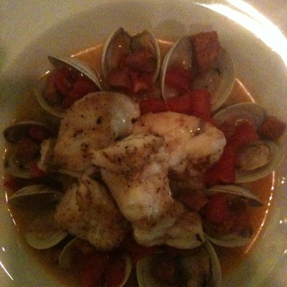 Monkfish With Lemon & Roasted Fennel Risotto With Clams, Tomato, & Chorozo - Fat Canary, Williamsburg, VA