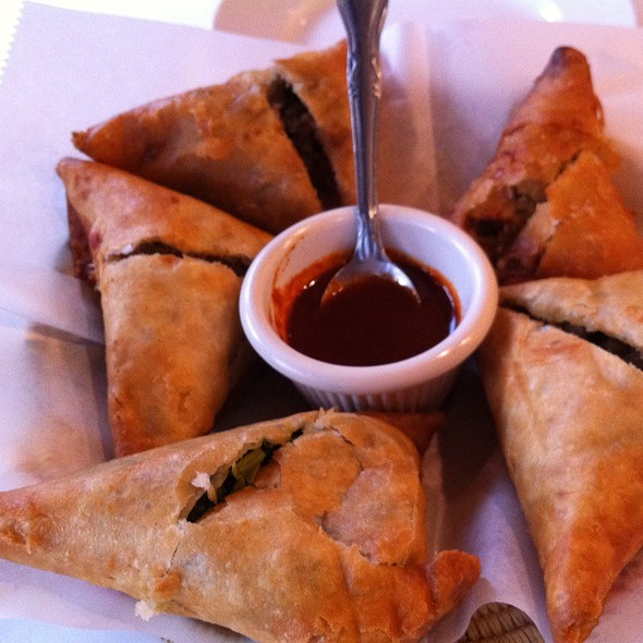 Sambussa Sampler @ Demera Ethiopian Restaurant Llc