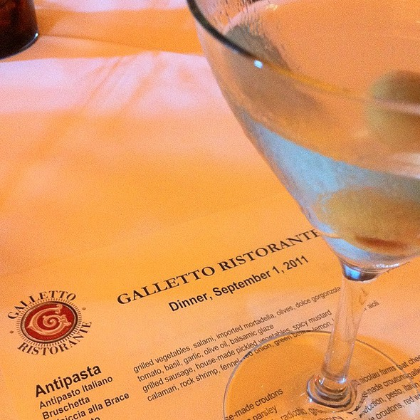 Dirty Stoli Martini - Galletto Ristorante, Modesto, CA