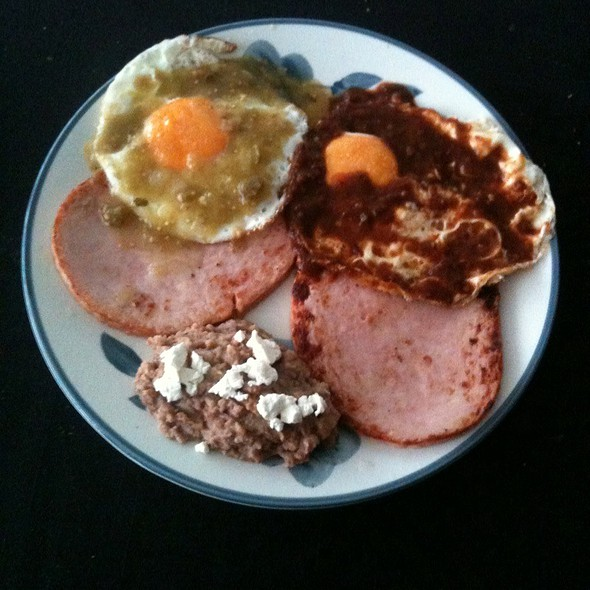 Huevos Divorciados With Pork @ Home