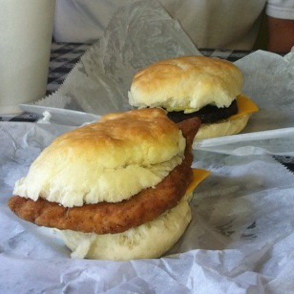 Chicken Biscuit And Sausage Egg And Cheese @ Mountain Biscuits