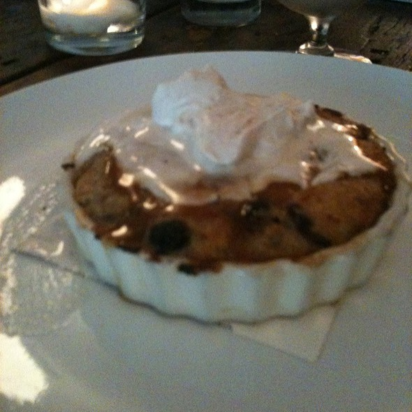 Cinnamon Blueberry Bread Pudding @ Harvest Restaurant