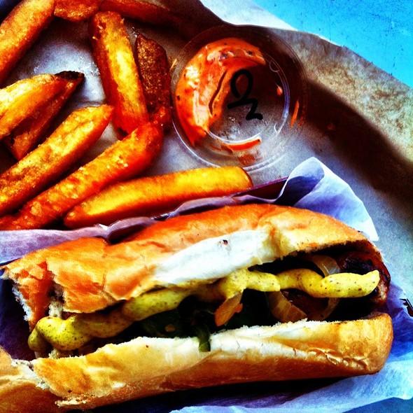 Bockwurst, Belgian Fries @ Wurstküche