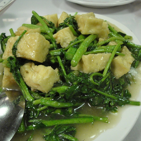Stir-Fried Watercress and Tofu @ Kin Wah Chop Suey