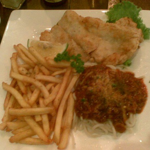 Fish Fillet Spag And Fries @ Almon Marina