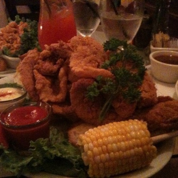 Fried Catfish and Shrimp - Harold And Belle's Creole Restaurant, Los Angeles, CA