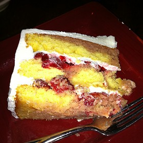 Strawberry Yellow Cake