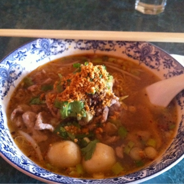 Tom Yum Soup Noodles @ Ruen Pair Authentic Thai