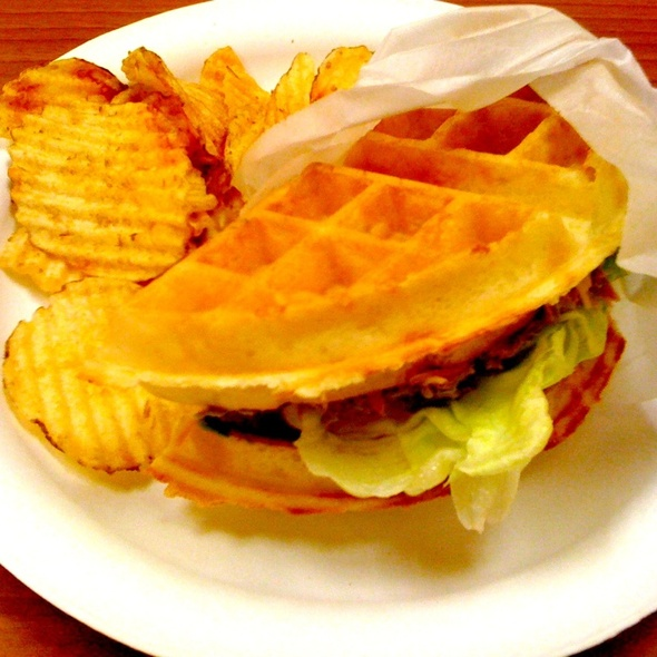Tuna Waffle Sandwich @ WaffleS Cafe