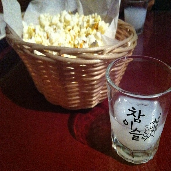 Pop Corn & Lychee Soju @ Spot Restaurant the