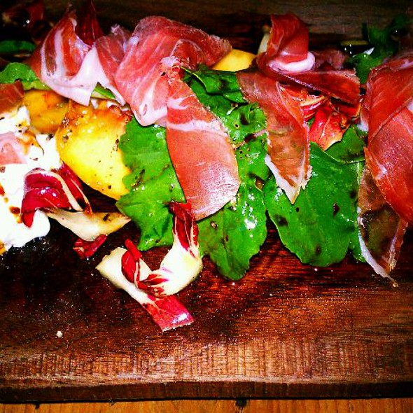 Grilled Pear, Proscuitto And Goat Cheese