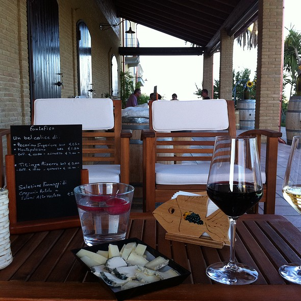 Wine And Cheese Plate @ Fontefico