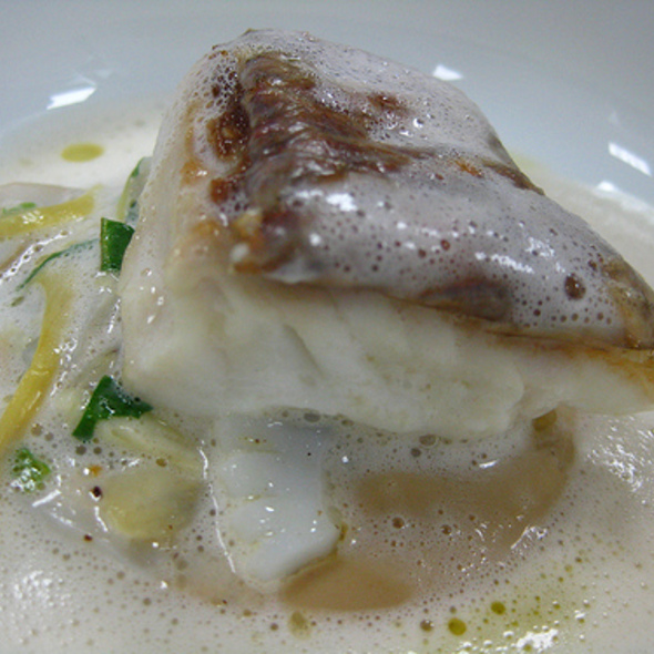 Japanese Snapper, Baby Artichoke, Sashimi Squid, Cream, Razor Clam Broth