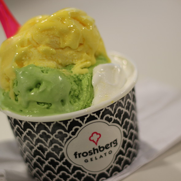pistaschio, mango, passionfruit cheesecake gelato @ Froshberg Gelato - Eaton Centre Food Court