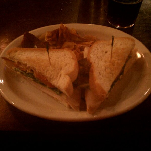 Turkey Club and Housemade Chips @ Rock Bottom Restaurant & Brewery