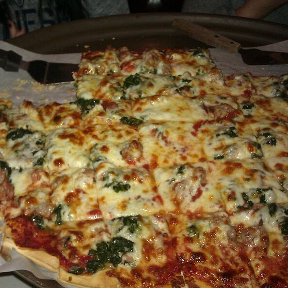 Football Pizza  18in By 26in - Al's Italian Restaurant & Pizzeria, Cicero, IL