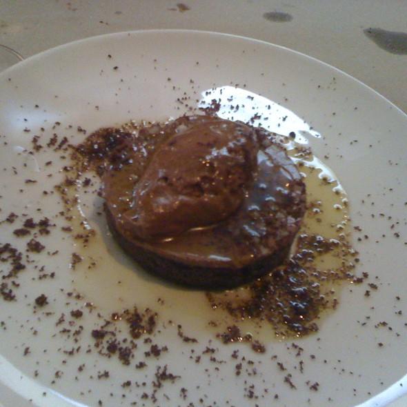 Chocolate budino tart @ A16