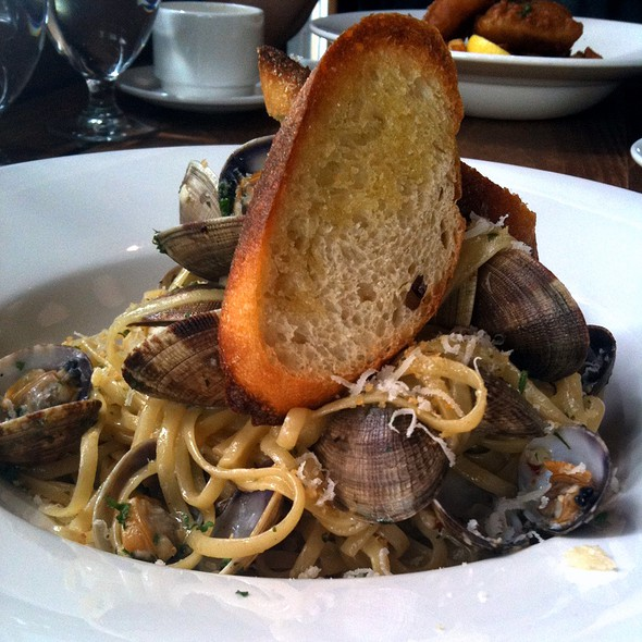 Steamed Manila Clam Linguine - The Beach House, West Vancouver, BC