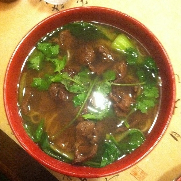 Beef brisket noodle soup @ Nan Zhou Hand Drawn Noodle House