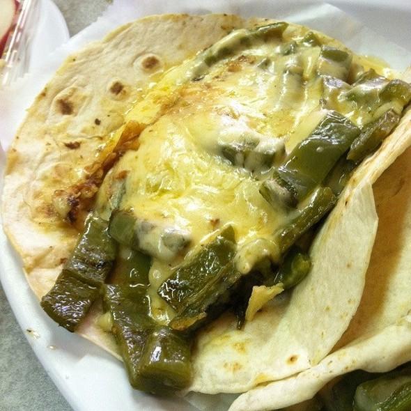 Nopales Con Queso @ Los Taquitos de Puebla Restaurant