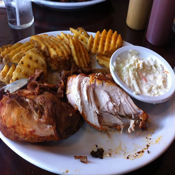 Smoked Chicken Breast Half Eaten @ Smoke & Spice Southern Barbeque