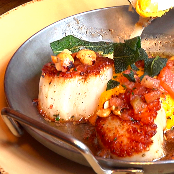 Seared Scallops @ Hubbard Inn