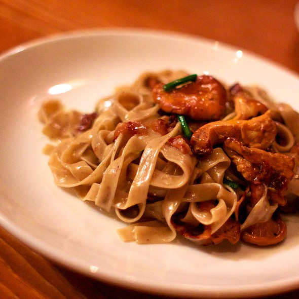 Black Olive Fettucine With Chanterelles And Pancetta @ Otto Enoteca & Pizzeria