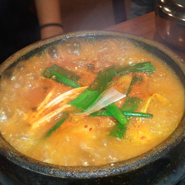 Tofu Soup with Kimchi @ Sorabol Korean Restaurant