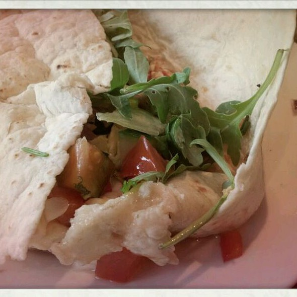 Brie with honey with fresh toppings of your choice @ Wraps & Go