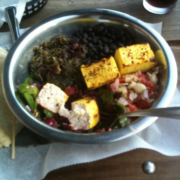 Dog Bowl With Tofu @ Sheik Burritos N Kabobs
