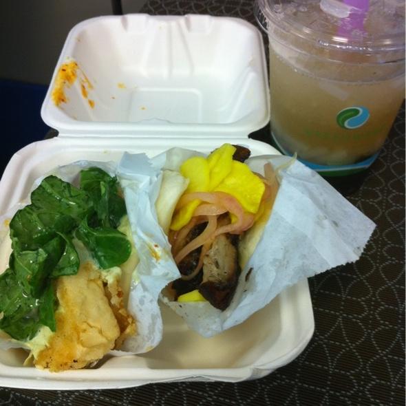 Pork Belly Bao, Crispy Tofu Bao & Ginger lychee Drink @ Chairman Bao Truck
