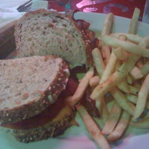 Grilled Cheese With Bacon & Tomato @ Pick Me Up Cafe