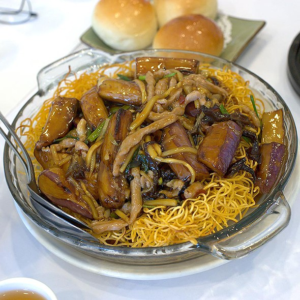 House Special Pan Fried Noodles @ Prince Dim Sum House