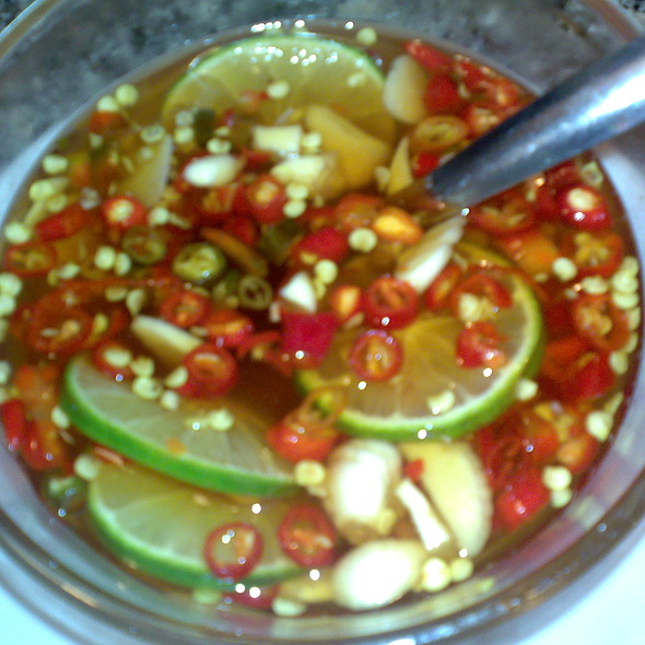 fish sauce with lime and chilies