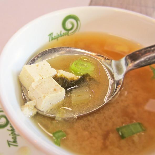Miso Soup - Thaiphoon Restaurant, Palo Alto, CA