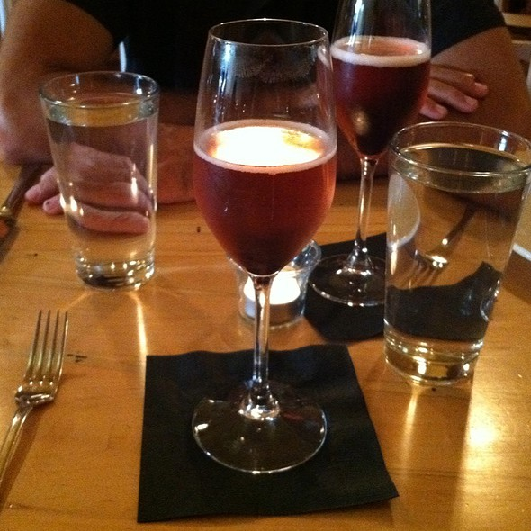 The Helen Mirren (Prosecco And Chambord) - Local Roots (Virginia) - A Farm to Table Restaurant, Roanoke, VA