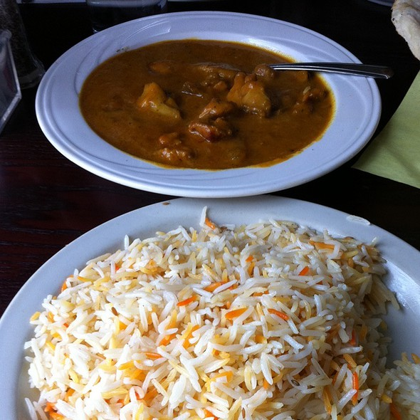 Butter Chicken With Tri-Color Rice @ Cedars Restaurant