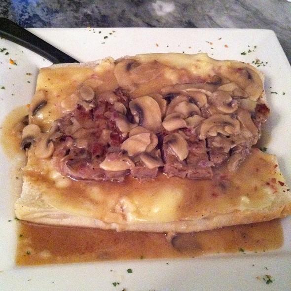 Open-Face Steak Marsala Sandwich @ Chestnut Cafe & Eatery