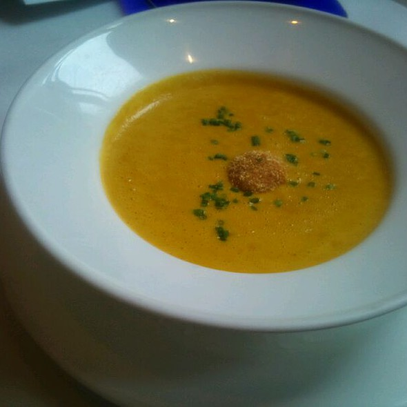 Roasted Carrot Soup, Fried Porkbelly Rittait @ Atwood