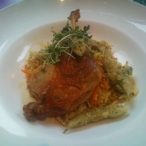 Duck Confit, Orzo, Soy Glaze, Fried Soybeans @ Atwood