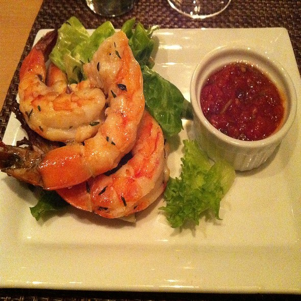 Grilled Shrimp With Spicy Boozy Cocktail Sauce - ONE 53, Rocky Hill, NJ